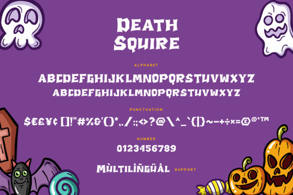 Print on Demand: Death Squire Display Font By Grezline Studio - Image 6