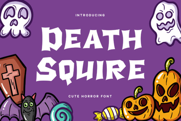 Print on Demand: Death Squire Display Font By RezaDesign