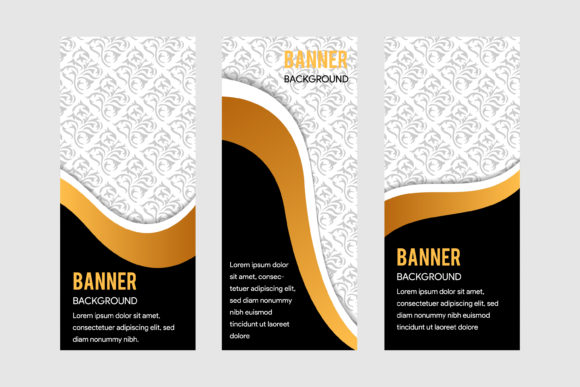 Print on Demand: Decorative Carving Wood Banner Graphic Print Templates By noory.shopper - Image 1
