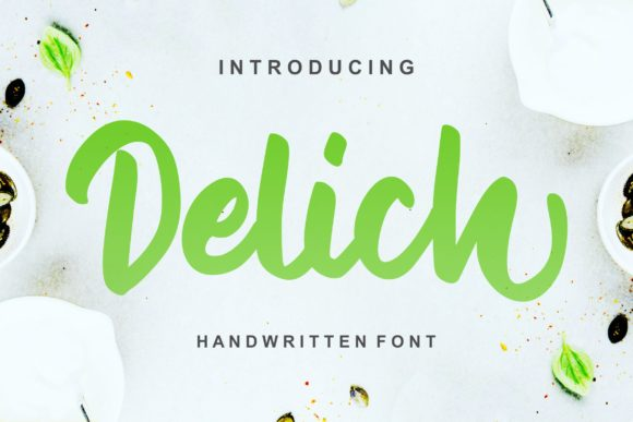 Print on Demand: Delich Script & Handwritten Font By Vunira