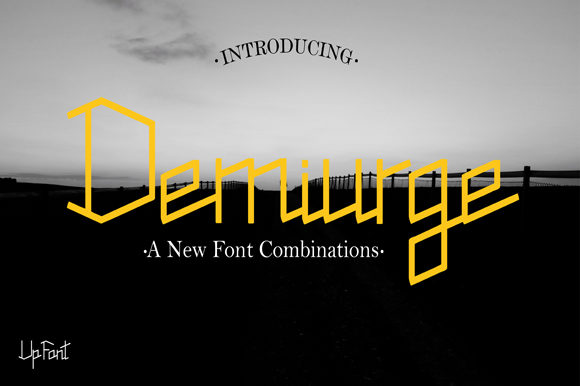 Print on Demand: Demiurge Display Font By Up Font Studio