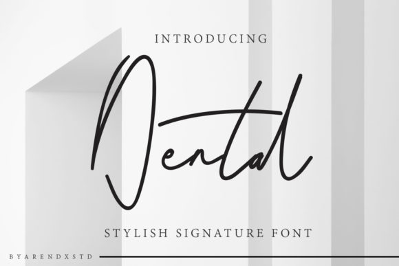Dental Script & Handwritten Font By Arendxstudio