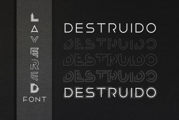 Print on Demand: Destruido Display Font By EyeCone - Image 1