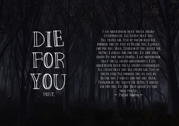 Print on Demand: Die for You Script & Handwritten Font By CuriousxxGraphics - Image 3
