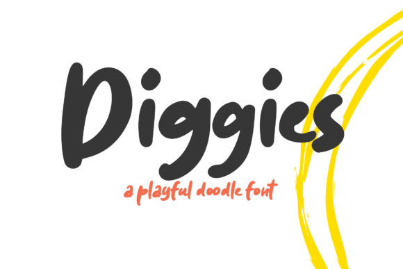 Diggies Font By Weape Design Image 1