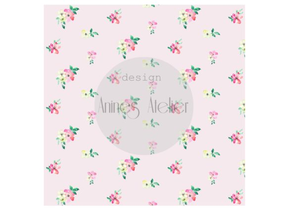 Download Free Digital Paper Pink Watercolor Flowers Graphic By Anines Atelier for Cricut Explore, Silhouette and other cutting machines.