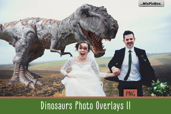 Print on Demand: Dinosaur V.2 Photo Overlays Graphic Layer Styles By MixPixBox