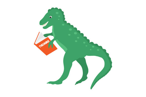 Dinosaur Reading Thesaurus Dinosaurs Craft Cut File By Creative Fabrica Crafts
