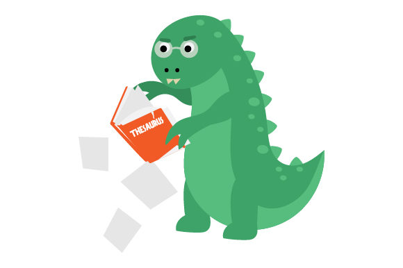 Dinosaur Tearing Apart Thesaurus Dinosaurs Craft Cut File By Creative Fabrica Crafts - Image 1