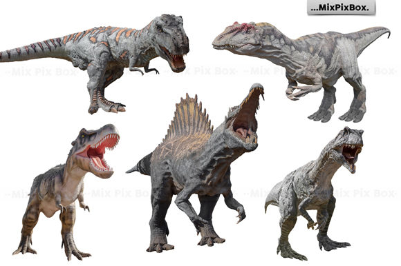 Print on Demand: Dinosaurs Photo Overlays Pack Graphic Layer Styles By MixPixBox - Image 2