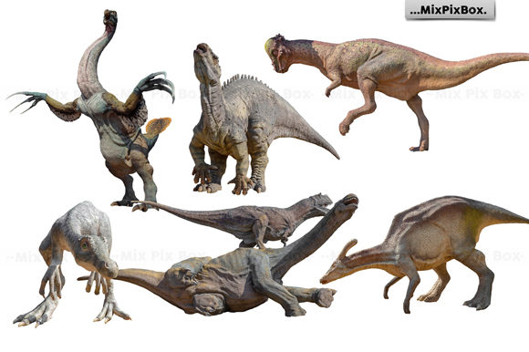 Print on Demand: Dinosaurs Photo Overlays Pack Graphic Layer Styles By MixPixBox - Image 3