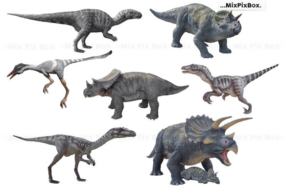 Print on Demand: Dinosaurs Photo Overlays Pack Graphic Layer Styles By MixPixBox - Image 4