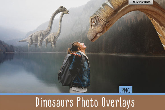 Print on Demand: Dinosaurs Photo Overlays Pack Graphic Layer Styles By MixPixBox