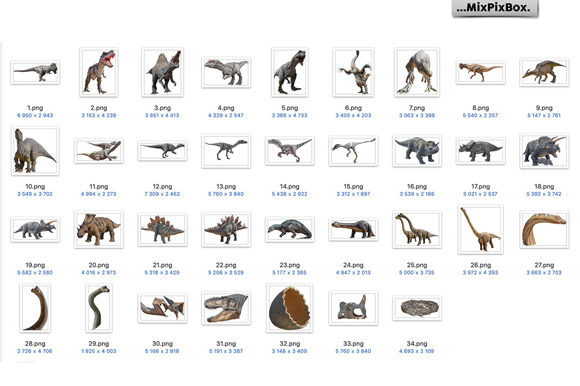 Print on Demand: Dinosaurs Photo Overlays Pack Graphic Layer Styles By MixPixBox - Image 8