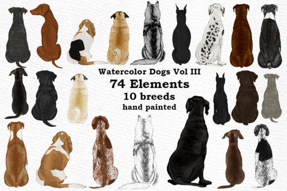 Dog Clipart Grafik Illustrationen von LeCoqDesign