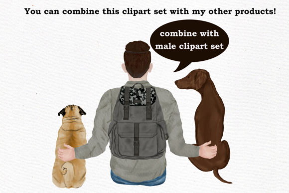 Dog Clipart Graphic Design Item