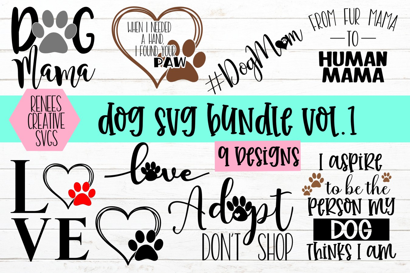 Download Free Dog Bundle Vol 1 Graphic By Reneescreativesvgs Creative Fabrica for Cricut Explore, Silhouette and other cutting machines.