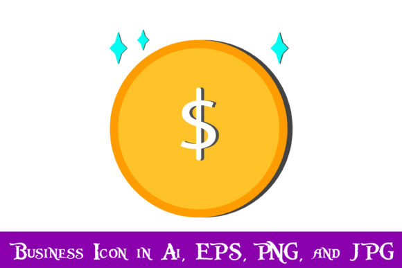 Download Free Dollar Coin Icon Graphic By Purplespoonpirates Creative Fabrica for Cricut Explore, Silhouette and other cutting machines.