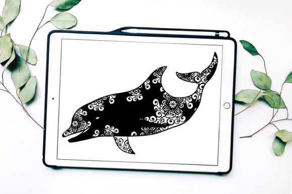 Dolphin Mandala Graphic Print Templates By Fortuna Prints