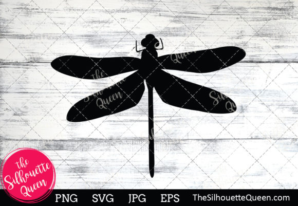 Download Free Dragon Fly Silhouette Graphic By Thesilhouettequeenshop for Cricut Explore, Silhouette and other cutting machines.