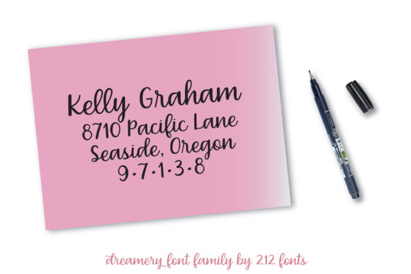 Print on Demand: Dreamery Family Script & Handwritten Font By 212 Fonts - Image 5