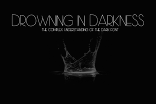 Drowning in Darkness Sans Serif Font By CuriousxxGraphics