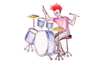Drum Player with Mohawk Craft Design By Creative Fabrica Crafts