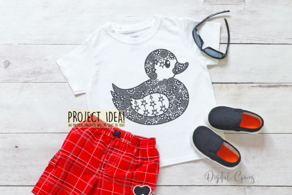 Download Free Duck Paper Cut Design Graphic By Digital Gems Creative Fabrica for Cricut Explore, Silhouette and other cutting machines.