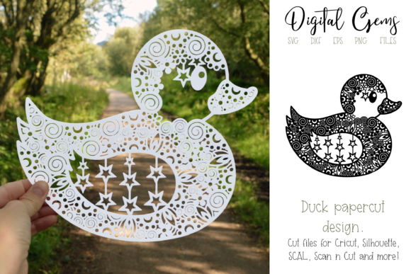 Duck Paper Cut Design Graphic Crafts By Digital Gems