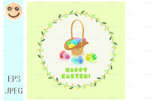 Easter Eggs in the Basket Graphic By TasiPas