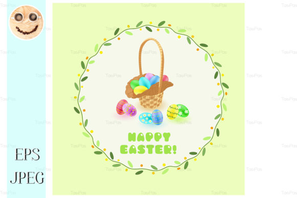 Download Free Easter Eggs In The Basket Graphic By Tasipas Creative Fabrica for Cricut Explore, Silhouette and other cutting machines.