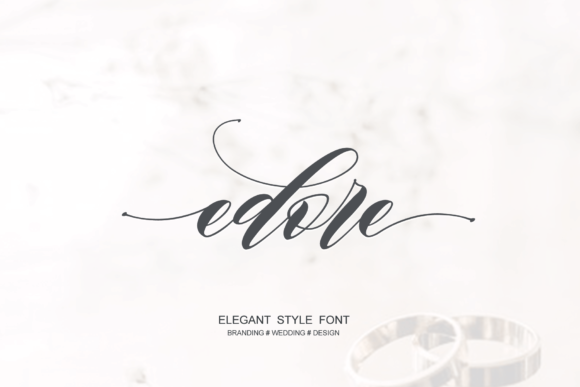 Print on Demand: Edore Script & Handwritten Font By Sinfa.co