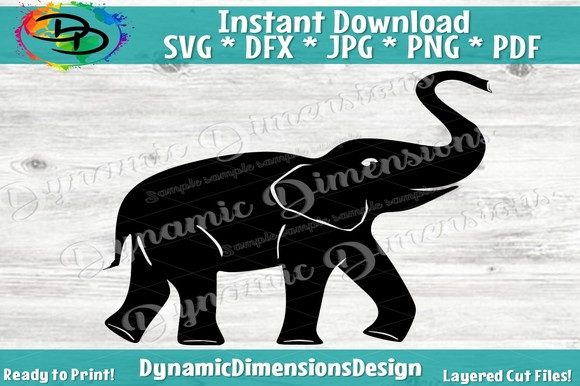 Download Free Elephant Graphic By Dynamicdimensions Creative Fabrica for Cricut Explore, Silhouette and other cutting machines.