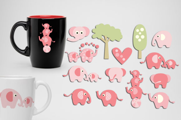 Print on Demand: Elephant Pink Graphic Illustrations By Revidevi