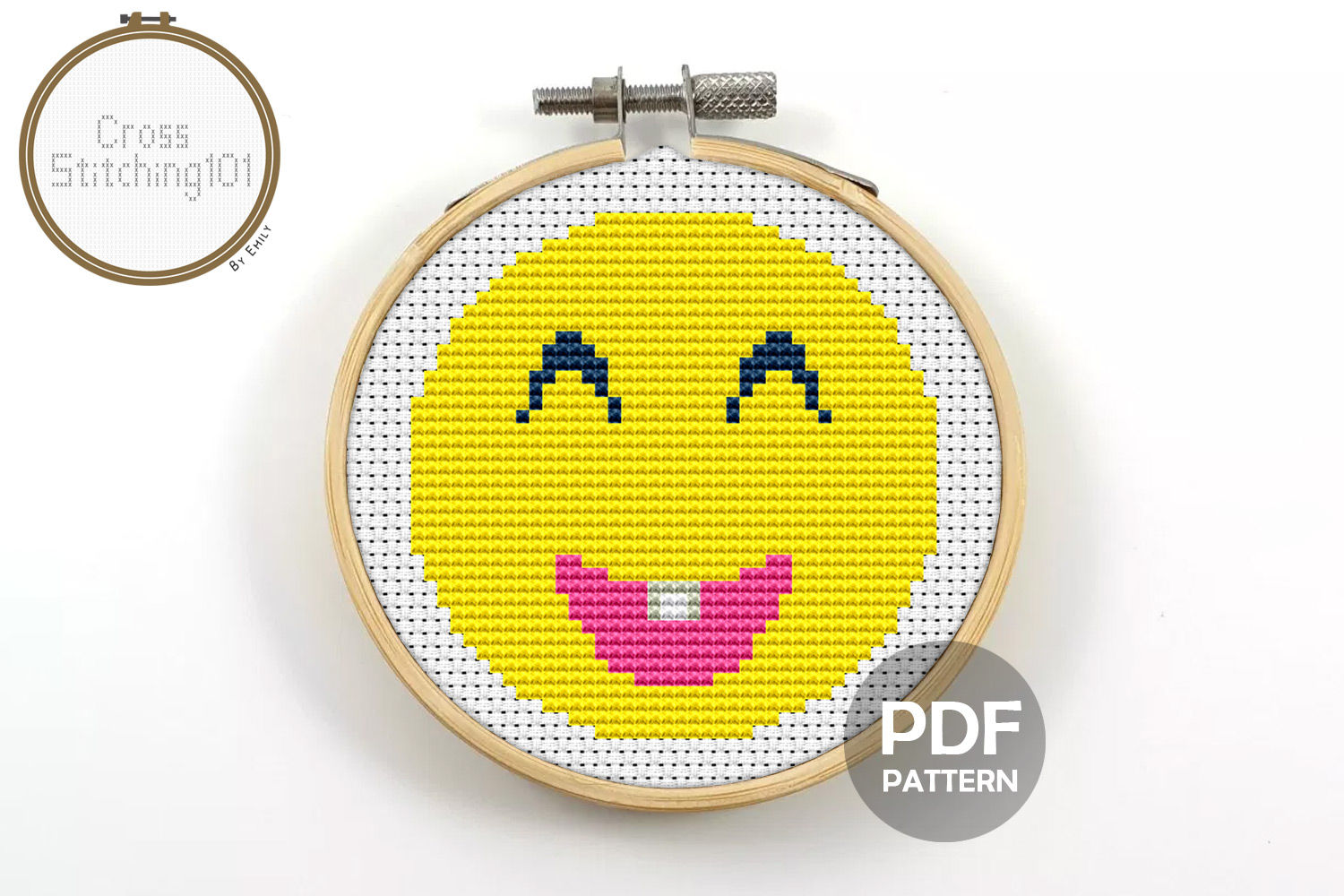Download Free Emoji Smiley Modern Cross Stitch Pattern Graphic By for Cricut Explore, Silhouette and other cutting machines.