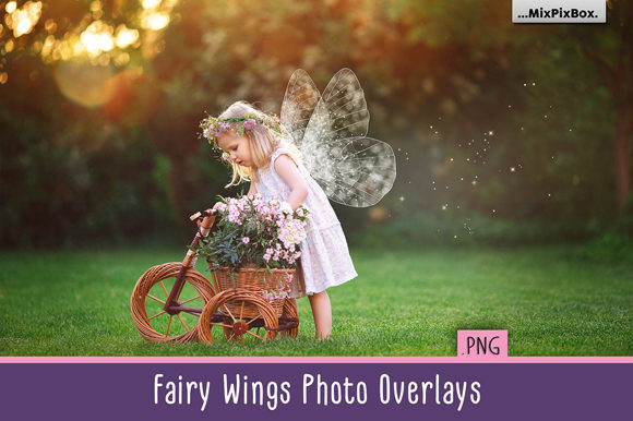 Print on Demand: Fairy Wings Overlays Graphic Layer Styles By MixPixBox