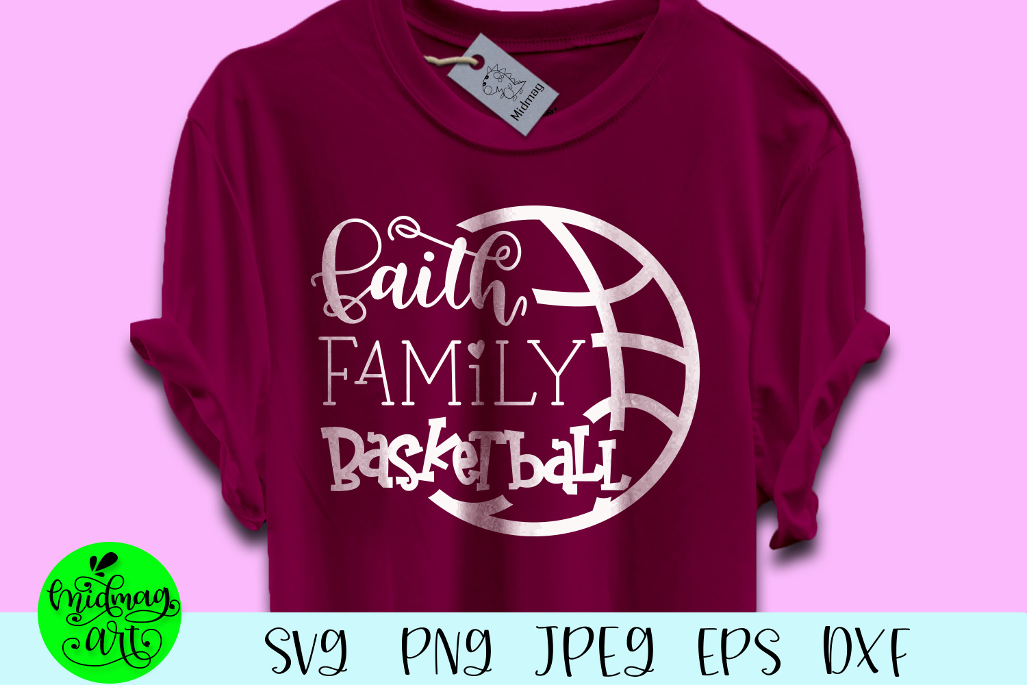 Download Free Faith Family Basketball Graphic By Midmagart Creative Fabrica for Cricut Explore, Silhouette and other cutting machines.