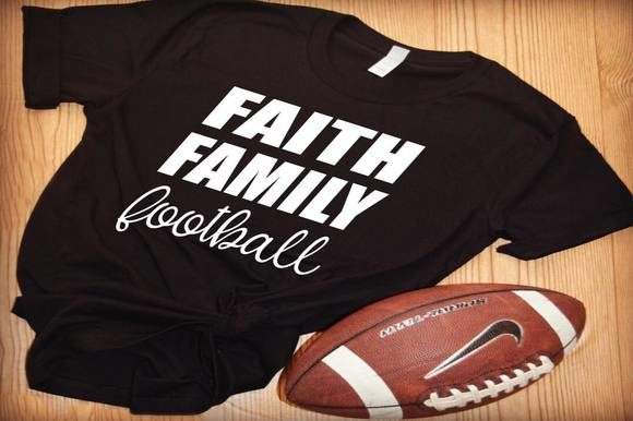Download Free Faith Family Football Graphic By Dddesigns Creative Fabrica for Cricut Explore, Silhouette and other cutting machines.