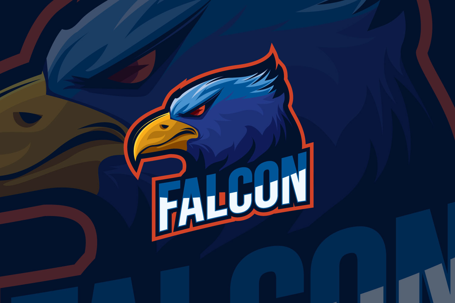 Download Free Falcon Eagle Esport Logo Design Graphic By Dwikrisdiantoro9 for Cricut Explore, Silhouette and other cutting machines.