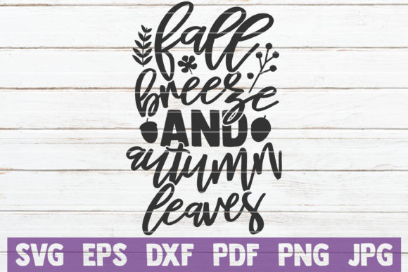 Download Free Fall Breeze And Autumn Leaves Graphic By Mintymarshmallows for Cricut Explore, Silhouette and other cutting machines.