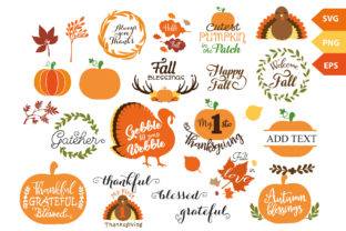 Fall Thanksgiving Vector SVG Bundle Graphic By adlydigital