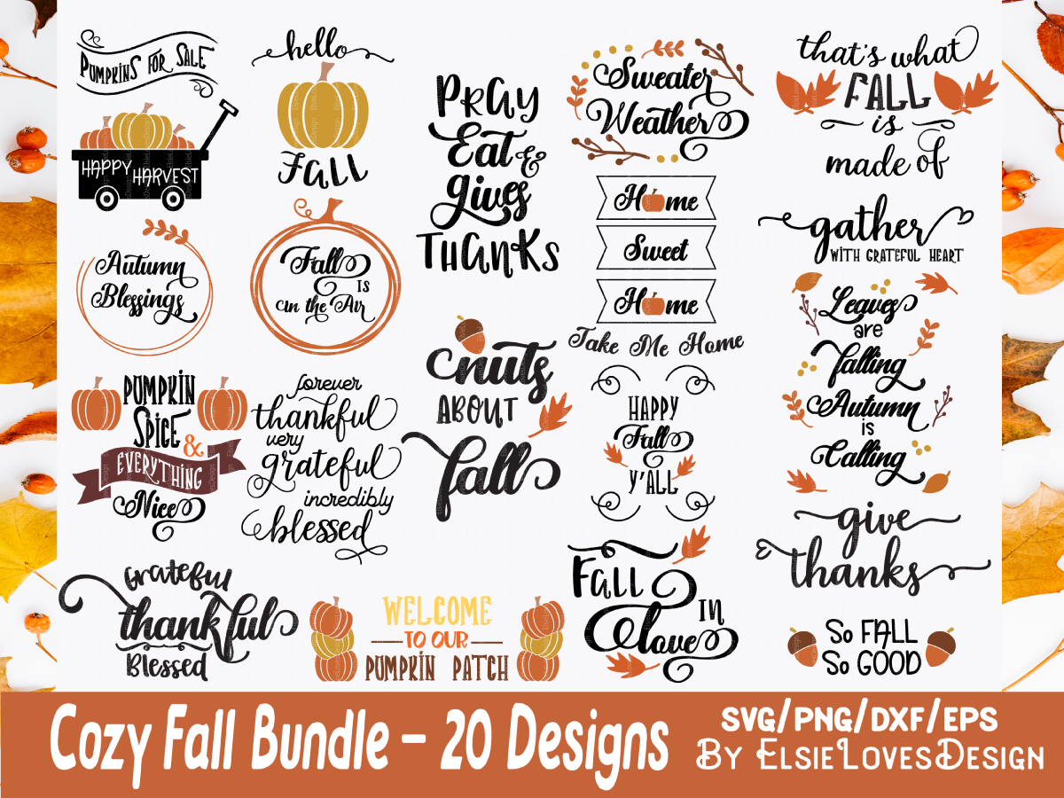 Download Free Fall Thanksgiving Graphic By Elsielovesdesign Creative Fabrica for Cricut Explore, Silhouette and other cutting machines.