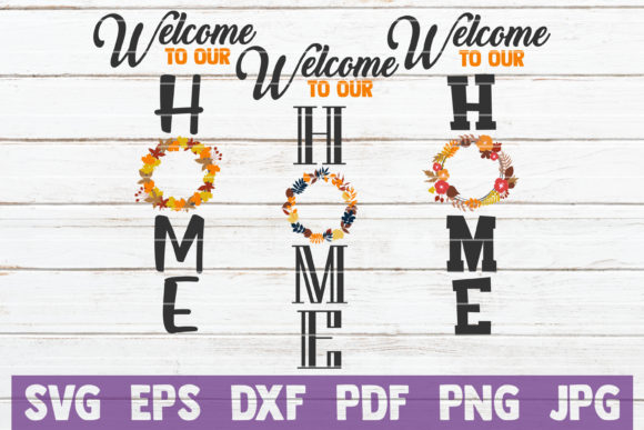 Fall Welcome Home Sign Bundle Graphic Crafts By MintyMarshmallows - Image 1