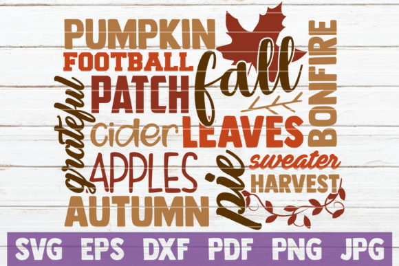 Fall Word Art Graphic Graphic Templates By MintyMarshmallows