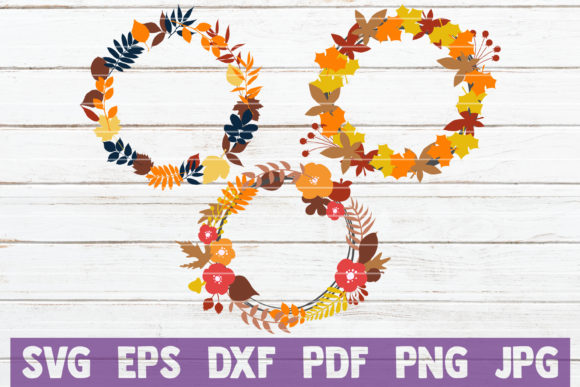 Download Free Fall Wreath Bundle Graphic By Mintymarshmallows Creative Fabrica for Cricut Explore, Silhouette and other cutting machines.
