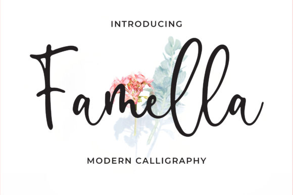 Print on Demand: Famella Script & Handwritten Font By Blankids Studio