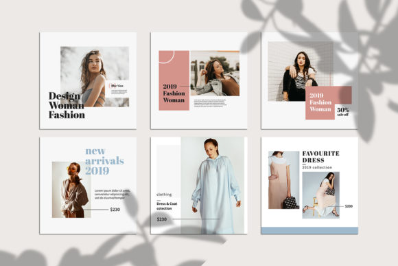 Download Free Fashion Instagram Templates Graphic By Qohhaarqhaz Creative for Cricut Explore, Silhouette and other cutting machines.