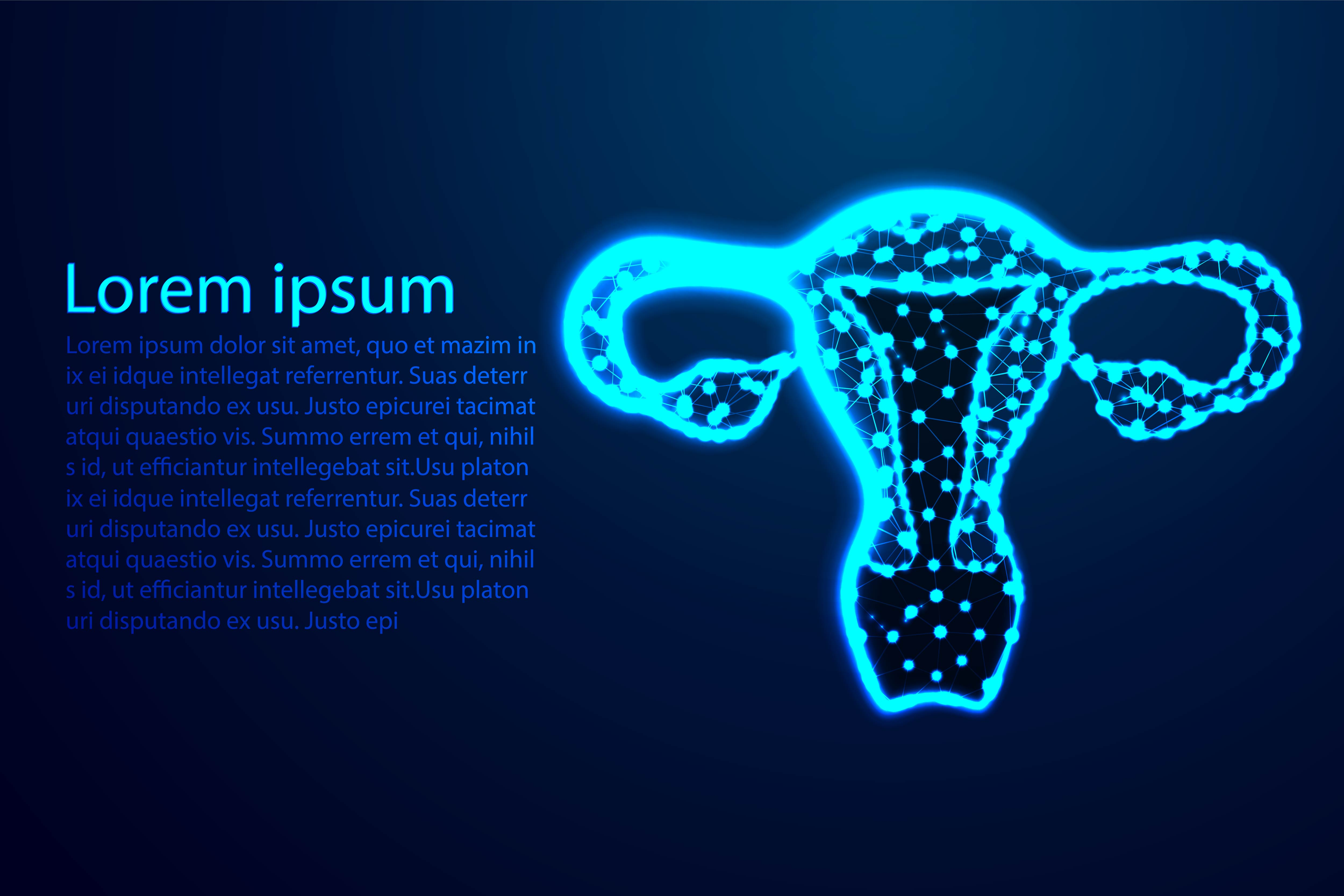 Download Free Female Reproductive System Neon Blue Graphic By Ojosujono96 SVG Cut Files