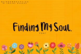 Finding My Soul Font By RainbowGraphicx