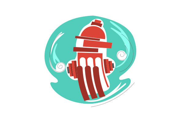 Download Free Fire Hydrant Abstract Print Art Style Svg Cut File By Creative for Cricut Explore, Silhouette and other cutting machines.